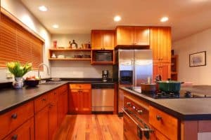 Luxury modern cherry kitchen