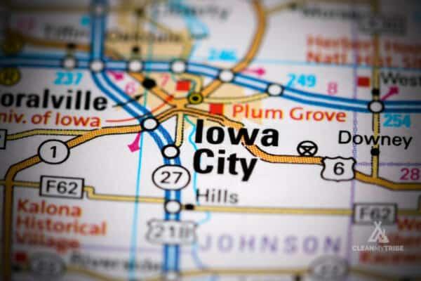 Iowa City IA Map